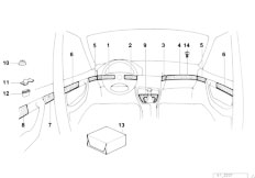 E34 525td M51 Sedan / Vehicle Trim Fine Wood Trim