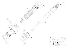 E46 316ti N42 Compact / Steering/  Steer Col Lower Joint Assembly