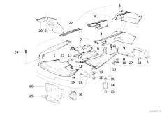 E34 525td M51 Sedan / Vehicle Trim Heat Insulat Engine Compartm Screening