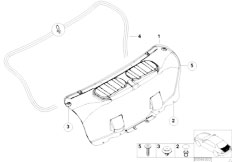 E46 M3 S54 Coupe / Vehicle Trim/  Trim Panel Trunk Lid