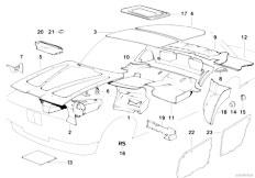 E34 525td M51 Sedan / Vehicle Trim Sound Insulation