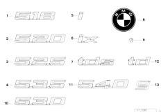 E34 525td M51 Sedan / Vehicle Trim Emblems