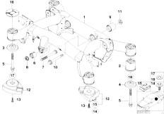 E39 528i M52 Sedan / Rear Axle/  Rear Axle Carrier