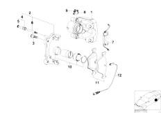 E46 316ti N42 Compact / Brakes/  Rear Wheel Brake Brake Pad Sensor