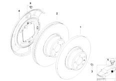 E46 316ti N42 Compact / Brakes/  Rear Wheel Brake Brake Disc