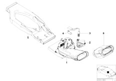 E39 520d M47 Sedan / Heater And Air Conditioning/  Blower Rear