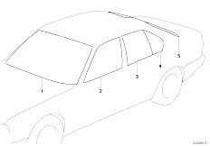 E34 525td M51 Sedan / Vehicle Trim Glazing