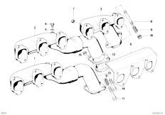 E34 535i M30 Sedan / Engine Exhaust Manifold-3