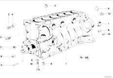 E34 535i M30 Sedan / Engine Engine Block