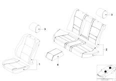 E46 M3 CSL S54 Coupe / Seats Lambskin Seat Cover