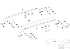 E46 330xd M57 Sedan / Universal Accessories Hood Parts Railing
