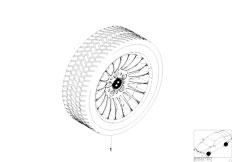 E38 750iL M73N Sedan / Wheels/  Radial Spoke 61 Complete Winter Wheel