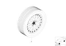 E38 750iL M73N Sedan / Wheels/  Cr Spoke Comp Ii Complete Winter Wheel