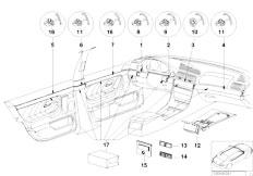 E38 750iLS M73N Sedan / Vehicle Trim/  Equipment Of High Polished Nutwood