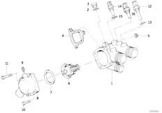 E34 535i M30 Sedan / Engine Cooling System Thermostat Housing