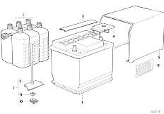 E12 520 M10 Sedan / Vehicle Electrical System Battery