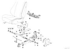 E30 325i M20 Cabrio / Seats Reclining Seat Fitting