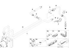 E46 316ti N42 Compact / Brakes/  Brake Pipe Rear Abs Asc T