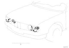 E12 520 M10 Sedan / Vehicle Electrical System Retrofit Kit Headlight Cleaning System