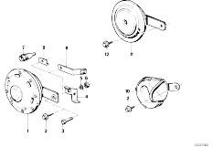 E12 520 M10 Sedan / Vehicle Electrical System Horn