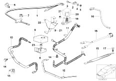 E38 L7 M73N Sedan / Engine Electrical System Battery Cable-2