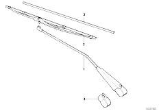 E12 520 M10 Sedan / Vehicle Electrical System Wiper Arm Wiper Blade