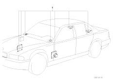E38 Bmw Wiring Harness Diagram additionally Bmw Engine Bay Diagram further Audio Navigation Electronic Systems further Wiring Harness Adapter Ford likewise  on bmw m30 wiring harness
