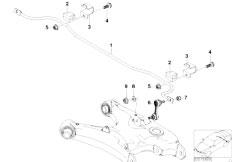 E39 528i M52 Sedan / Rear Axle/  Stabilizer Rear