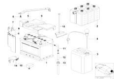 E39 520i M52 Sedan / Vehicle Electrical System/  Battery Empty