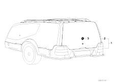 E46 330xd M57 Sedan / Universal Accessories Trailer Hood