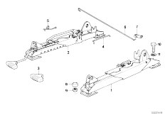 E30 325i M20 Cabrio / Seats Bmw Sportseat Seat Rail