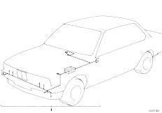 E12 520 M10 Sedan / Vehicle Electrical System Wiring Harness