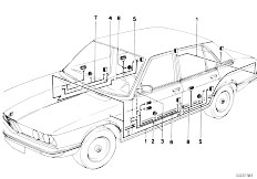 E12 520 M10 Sedan / Vehicle Electrical System Wiring Sets-2