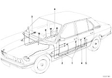 E12 520 M10 Sedan / Vehicle Electrical System Wiring Set