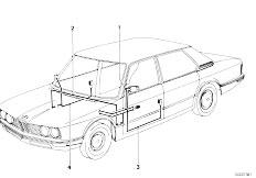 E12 520 M10 Sedan / Vehicle Electrical System Wiring Set Electr Exterior Mirrors
