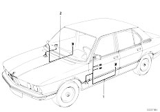 E12 520 M10 Sedan / Vehicle Electrical System Various Additional Wiring Sets-2