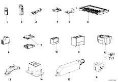 E12 520 M10 Sedan / Vehicle Electrical System Plug Housing