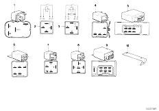 E12 520 M10 Sedan / Vehicle Electrical System Relay
