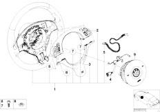 E46 318Ci N42 Cabrio / Steering M Sports Strng Whl Airb Smart Multifunc