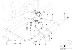 E46 330i M54 Touring / Exhaust System/  Exhaust Suspension Parts-2