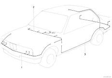 E12 520 M10 Sedan / Vehicle Electrical System Main Wiring Harness