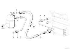 E21 316 M10 Sedan / Heater And Air Conditioning/  Pressure Hose Assembly