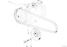 E21 316 M10 Sedan / Heater And Air Conditioning/  Fan Belt