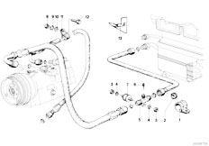 E21 316 M10 Sedan / Heater And Air Conditioning/  Tubing Attaching Parts