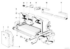 E21 316 M10 Sedan / Heater And Air Conditioning/  Heater Radiator Housing Sofica
