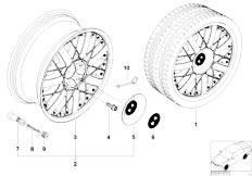 E38 750iL M73N Sedan / Wheels/  Bmw Composite Wheel Star Spoke 76