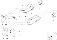 E46 330i M54 Touring / Exhaust System/  Front Silencer