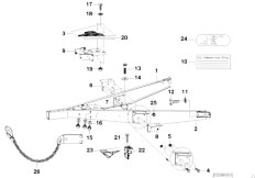 E46 330xd M57 Sedan / Universal Accessories Trailer Individual Parts Towbar
