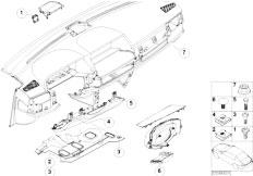 E65 730i M54 Sedan / Vehicle Trim Trim Panel Dashboard Mounting Parts