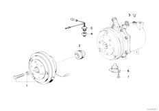 E34 540i M60 Touring / Heater And Air Conditioning Magnetic Clutch